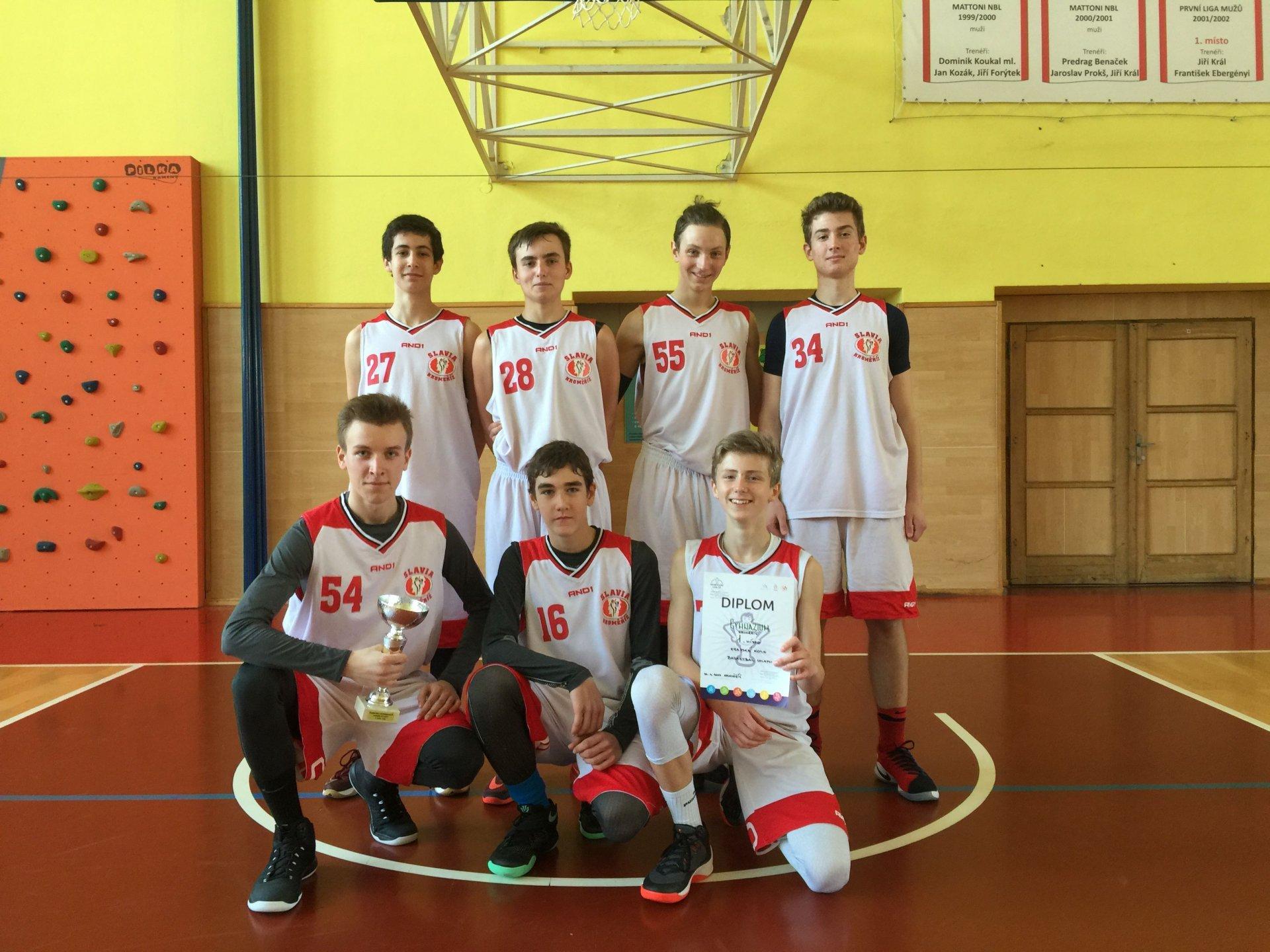 Krajské kolo a mladí basketbalisté Gymnázia Kroměříž
