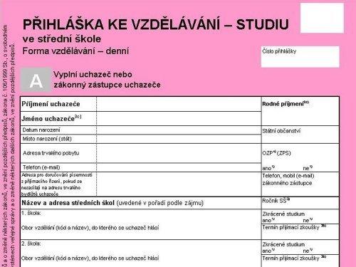 Kritéria přijímacího řízení pro školní rok 2019/2020
